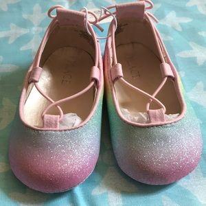 Newborn multi-color ballet shoes